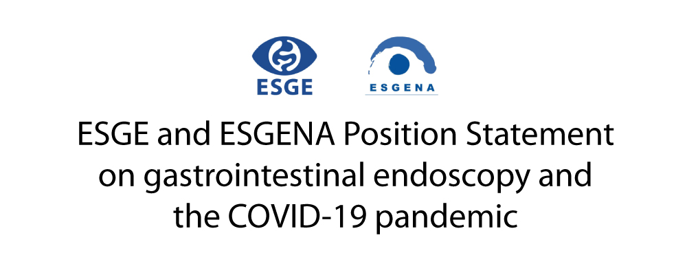 GuiasClinicas ESGE ESGENA Position Statement GI Endoscopy COVID19 pandem
